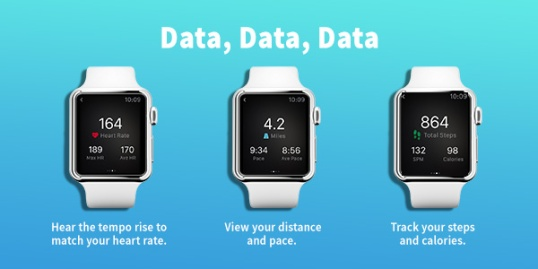 RockMyRun Apple Watch Screens