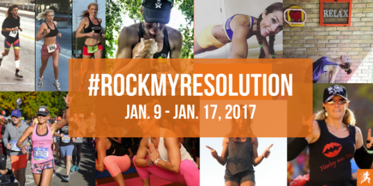#rockmyresolution RockMyRun New Year's Campaign